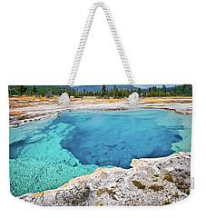 Sapphire Pool, Biscuit Basin Weekender Tote Bag