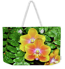 Sara Gold Orchids 003 Weekender Tote Bag by George Bostian