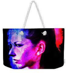 Weekender Tote Bag featuring the digital art Sarah 2 by Mark Baranowski
