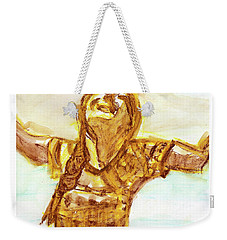 Sarah On The Beach Weekender Tote Bag