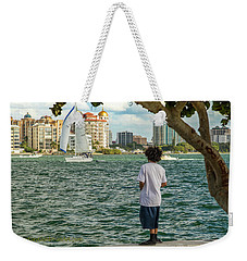 Sarasota Bay Fisherman Weekender Tote Bag