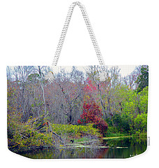 Weekender Tote Bag featuring the photograph Sarasota Reflections by Madeline Ellis