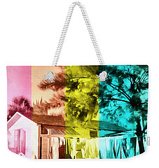 Weekender Tote Bag featuring the painting Sarasota Series Wash Day by Edward Fielding