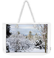 Saratoga Winter Scene Weekender Tote Bag