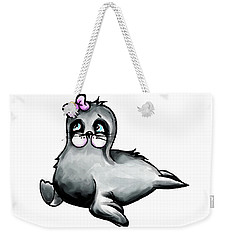 Weekender Tote Bag featuring the digital art Sassy Seal by Lizzy Love