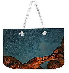 Satellites Crossing In The Night Weekender Tote Bag