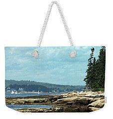 Saturday At Winter Harbor Weekender Tote Bag