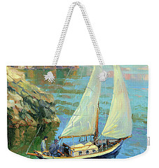 Weekender Tote Bag featuring the painting Saturday by Steve Henderson