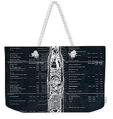 Saturn V Apollo Moon Mission Rocket Blueprint  1967 Weekender Tote Bag