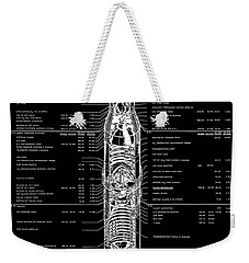 Saturn V Apollo Moon Rocket Blackprint  1967 Weekender Tote Bag