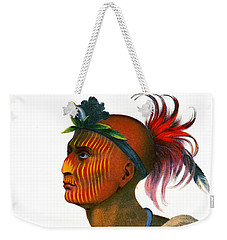 Weekender Tote Bag featuring the photograph Sauk Warrior 1842 by Padre Art