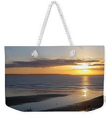 Saunton Sands Sunset Weekender Tote Bag by Richard Brookes