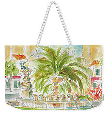 Weekender Tote Bag featuring the painting Sausalito Fountain by Pat Katz