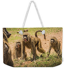 Weekender Tote Bag featuring the photograph Savanna Baboons 9872 by Janis Knight