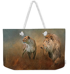 Savanna Lions Weekender Tote Bag