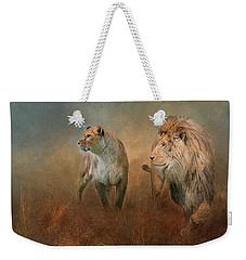 Savanna Lions Weekender Tote Bag