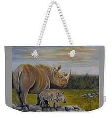 Savanna Overlook, Rhinoceros  Weekender Tote Bag