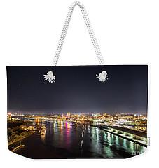Savannah Georgia Skyline Weekender Tote Bag