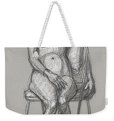 Weekender Tote Bag featuring the drawing Savannah Seated #1 by Donelli  DiMaria