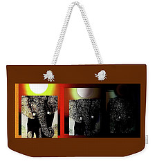 Weekender Tote Bag featuring the painting Save Our Precious Elephants  by Hartmut Jager