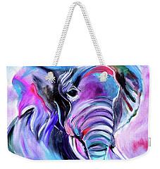 Save The Elephants Weekender Tote Bag by Jenny Lee