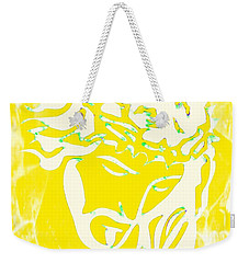 Weekender Tote Bag featuring the mixed media My Father's Will by Jessica Eli