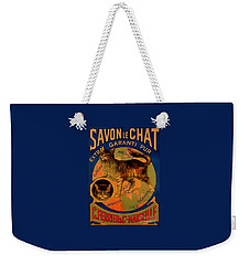 Savon Le Chat Antique French Poster Weekender Tote Bag