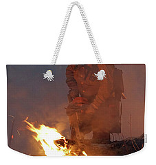 Sawyer, North Pole Fire Weekender Tote Bag by Bill Gabbert