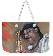 Sax And Linen Weekender Tote Bag