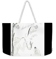 Weekender Tote Bag featuring the digital art Sax Girl by ReInVintaged