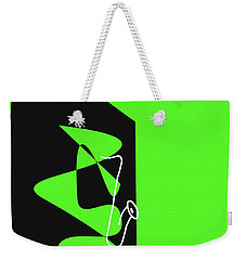 Weekender Tote Bag featuring the digital art Saxophone In Green by Jazz DaBri