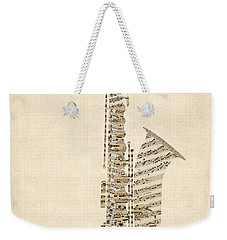 Saxophone Old Sheet Music Weekender Tote Bag
