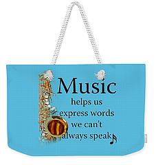 Saxophones Express Words Weekender Tote Bag