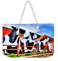 Say Cheese Weekender Tote Bag by Dale R Carlson