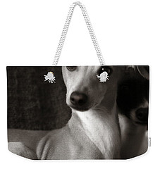 Say What Italian Greyhound Weekender Tote Bag