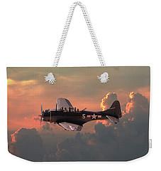 Weekender Tote Bag featuring the digital art  Sbd - Dauntless by Pat Speirs