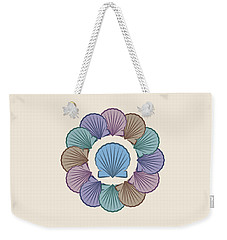 Scallop Shells Circle Multi Color Weekender Tote Bag by MM Anderson