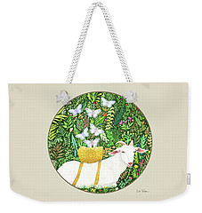 Scapegoat Button Weekender Tote Bag