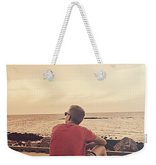 Weekender Tote Bag featuring the photograph Scarborough Jetty Sunset by Jorgo Photography - Wall Art Gallery