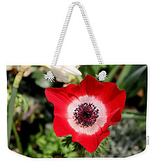 Scarlet Anemone Weekender Tote Bag by Living Color Photography Lorraine Lynch
