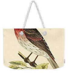 Scarlet Bullfinch Weekender Tote Bag