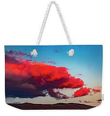 Scarlet Clouds Weekender Tote Bag