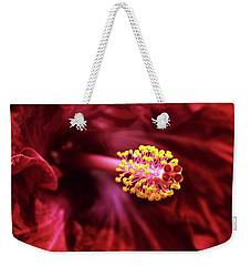 Scarlet Hibiscus Weekender Tote Bag by Jessica Jenney