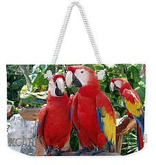 Scarlet Macaws Weekender Tote Bag by Ellen Henneke