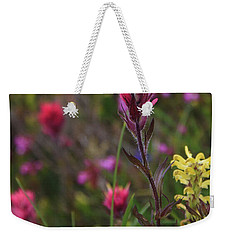 Weekender Tote Bag featuring the photograph Scarlet Paintbrush by David Chandler
