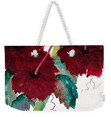 Scarlet Red Weekender Tote Bag