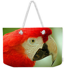 Scarlett Macaw South America Weekender Tote Bag by Ralph A  Ledergerber-Photography