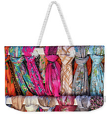 Scarves In Mykonos Weekender Tote Bag