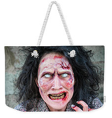 Scary Angry Zombie Woman Weekender Tote Bag