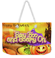 Scary On Weekender Tote Bag by Mo T